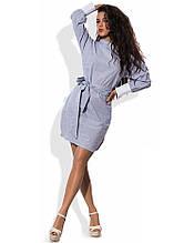 Хлопковое асимметричное платье рубашка Д-1570