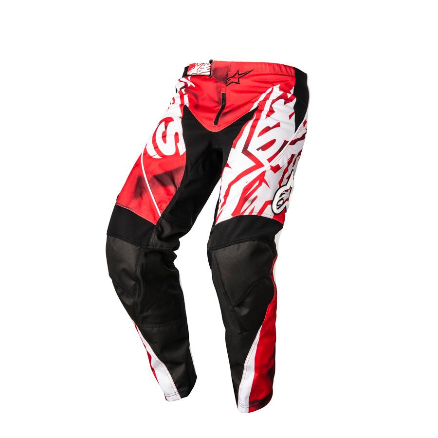 """Брюки Alpinestars Racer текстиль черно-красные """"L"""" (34)"""
