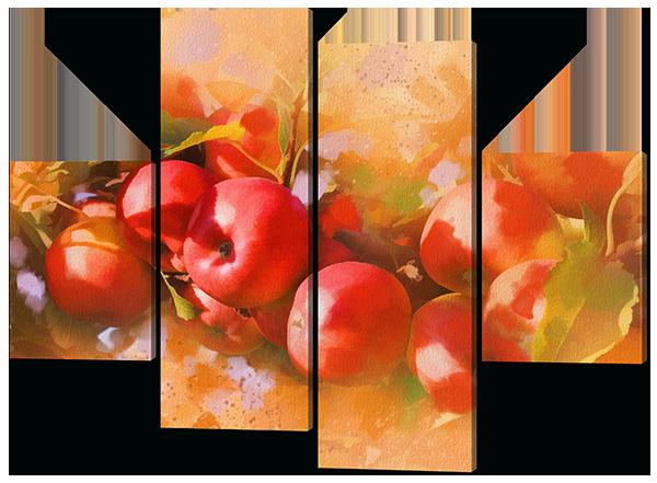 Модульная картина Спелые яблоки