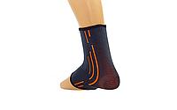 Голеностоп неопреновый с липучкой SIBOTE ANKLE SUPPORT (черно-оранжевый)