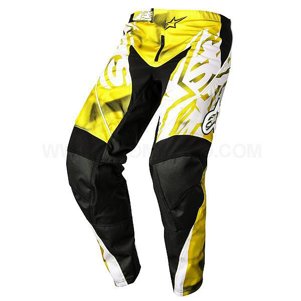 "Брюки Alpinestars Racer текстиль черно-желтые ""XS"" (28)"