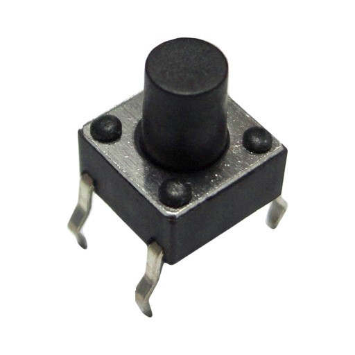 Кнопка тактовая 4-pin 6 X 6 X 6 мм. 1 шт.