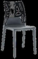 Стул Papatya Ego-Rock антрацит сиденье, верх черный, фото 1