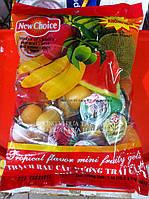 """Конфеты """"New Choice"""" фруктовое  желе ассорти  с соком и кусочками фруктов в пакете. 1000г (Вьетнам), фото 1"""