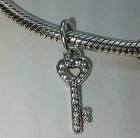Шарм подвеска для браслета Пандора «Ключик»