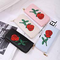 Женский кошелек клатч с вышивкой , фото 1