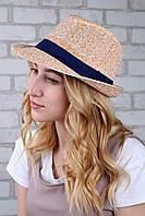 Шляпа челентанка Эвия персиковая