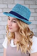 Шляпа челентанка Эвия голубая