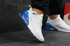 Летние мужские кроссовки Nike Air Max 270,White/Blue, фото 3