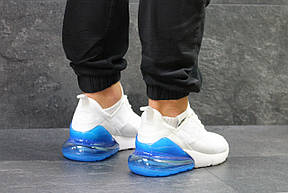 Летние мужские кроссовки Nike Air Max 270,White/Blue, фото 2