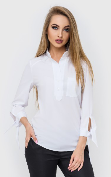 Белая женская блуза с рукавом 7/8 4513171