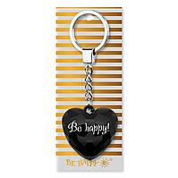 """Брелок-серце з написом """"Be happy"""""""