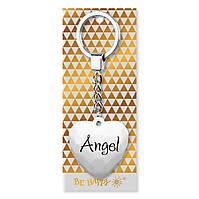 """Брелок-серце з написом """"Angel"""""""
