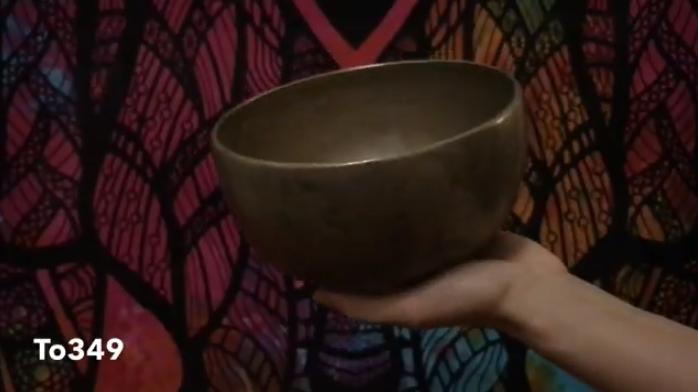 Старинная тибетская поющая чаша Тадобати (To349)