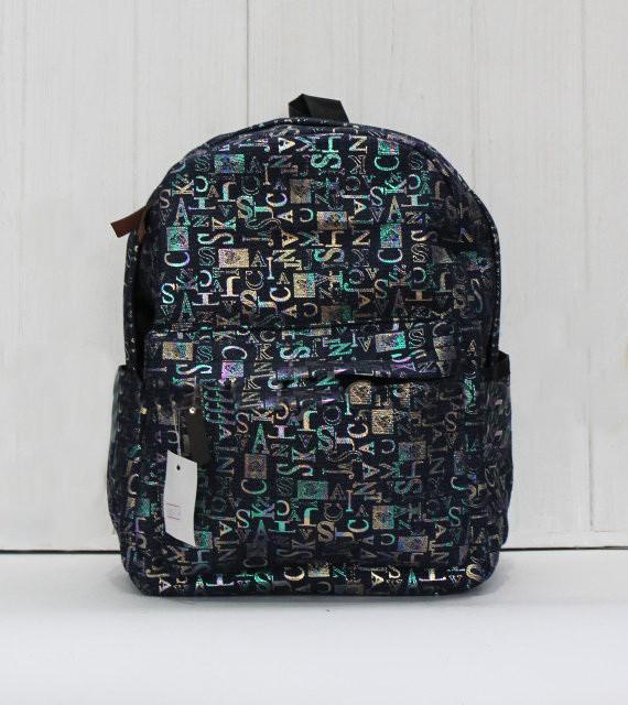 Красивый модный и практичный рюкзак стильным принтом