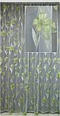 Гардини на вікна салатовий малюнок( обробка сторін + 40 грн.)