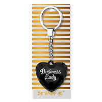 """Брелок-серце з написом """"Business Lady"""""""