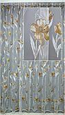 Гардини на вікна коричневий малюнок( обробка сторін + 40 грн.)