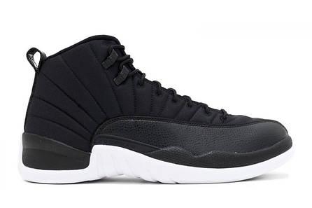 Кроссовки мужские найк эйр джордан 12 черные баскетбольные (реплика) Air  Jordan 12 Retro Black Nylon 4f8f18d8a13