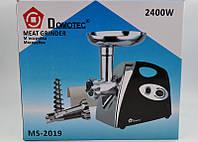 Мясорубка + соковыжималка Domotec MS-2019 2400Вт, Гарантия