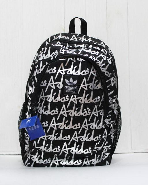 Рюкзак шкільний з написом adidas
