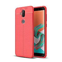 Чехол Asus Zenfone 5 Lite / 5Q / ZC600KL / 5A013WW / X017D 6.0' силикон Original Auto Focus Soft Touch красный