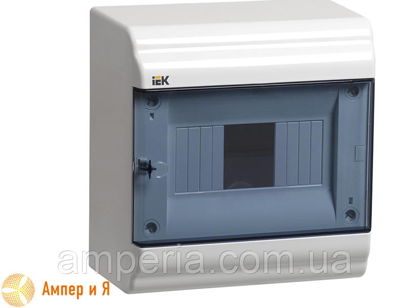 Корпус пластиковый IEK ЩРН-П-6 мод. 1Pяд навесной 190x182x100 IP41 PRIME (MKP82-N-06-41-20)