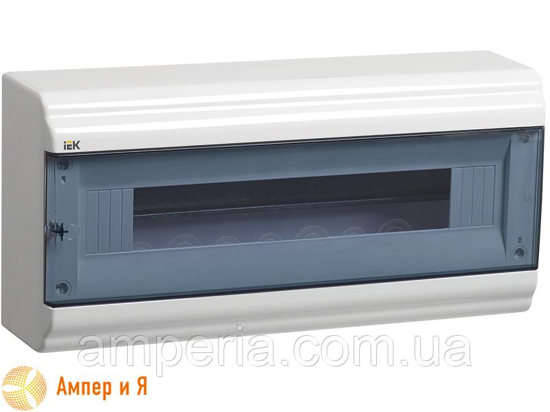 Корпус пластиковый IEK ЩРН-П-18 мод. 1Pяд навесной 190x398x100 IP41 PRIME (MKP82-N-18-41-10)
