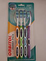 Зубные щетки Орбитол мягкие семейный вариант 4 шт