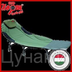 Раскладушка с 6 регулируемыми ножками и спинкой CZ0710