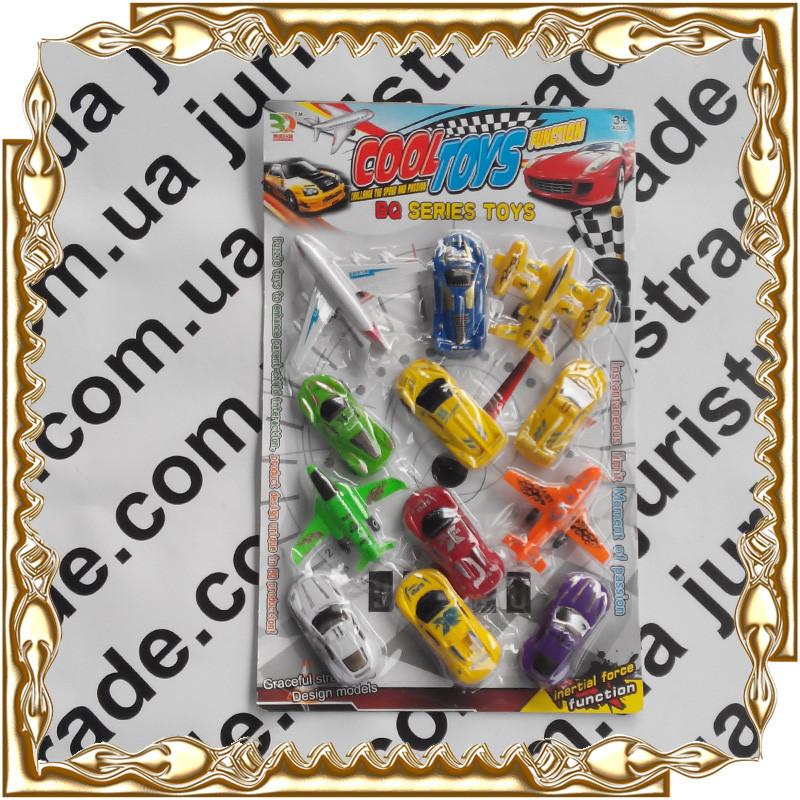 Набір Toys Models машинка+літаків SM 1662 12 шт./уп.
