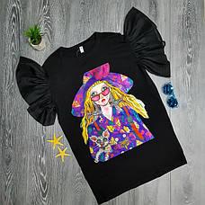 Платье-футболка девушка в очках 513-001, фото 2