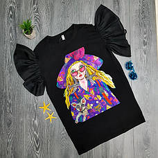 Платье-футболка девушка в очках 513-001, фото 3