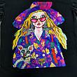 Платье-футболка девушка в очках 513-001, фото 4