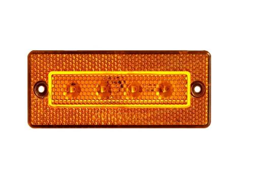 Габаритний 4-х діодний жовтий ліхтар для вантажівок(6992)
