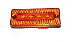 Габаритний 4-х діодний жовтий ліхтар для вантажівок(6992), фото 2