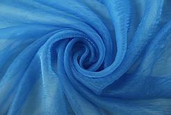 Гардини на вікна органза блакитна( обробка сторін + 40 грн.)