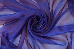 Гардини на вікна органза фіолетова( обробка сторін + 40 грн.)