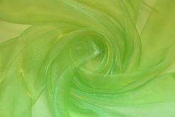 Гардини на вікна органза салатова ( обробка сторін + 40 грн.)