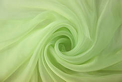 Гардина на окна органза нежно салатовая ( обработка сторон + 40 грн.)