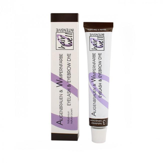 Фарба для вій і брів HairWell коричнева