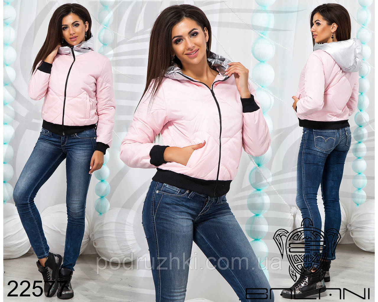 6607f4051a9 ... фото Короткая куртка женская с капюшоном 42