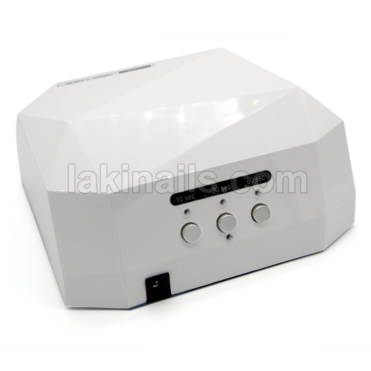 Сенсорная гибридная LED+CCFL лампа для ногтей 36 W, Diamond белая