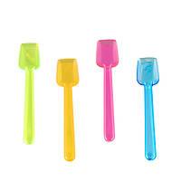 Ложечки для мороженого 9,5 см., 100 шт/уп  пластиковые ассорти