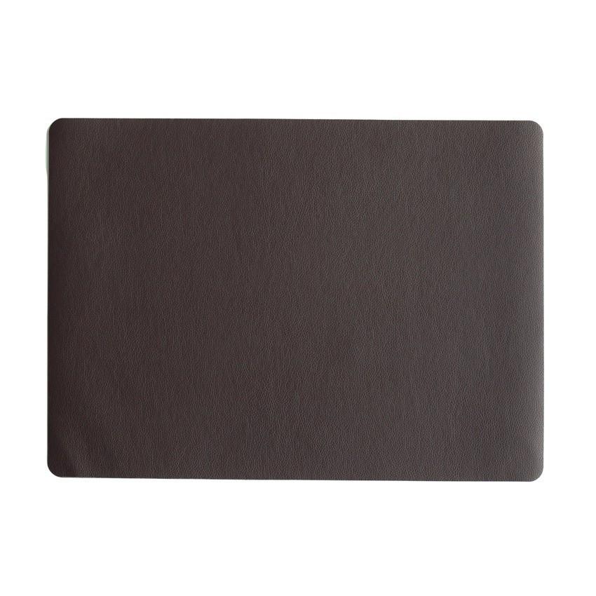 Подкладка под тарелку сервировочная Asa 46*33 см кожа шоколад 7804420