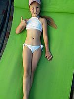 Детский белый купальник из кружева в белом цвете 532203 260
