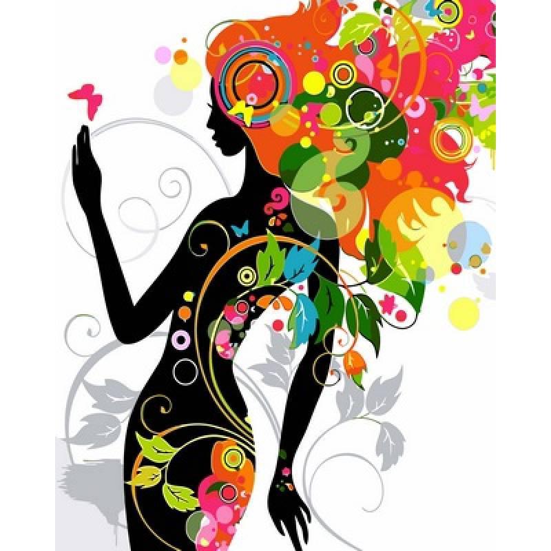 Картина по номерам Цветочная фея, 40x50 см., Babylon