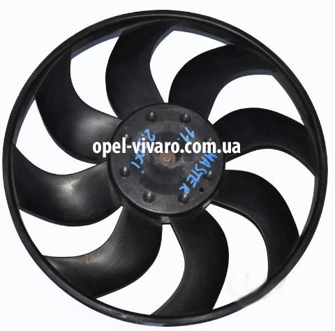 Вентилятор осн радиатора D380 8 лопастей 2 пина FWD Renault Master III 2010-2018
