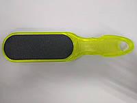Двухсторонняя терка для педикюра Сталекс 100/180 (зеленая) мелкозернистая