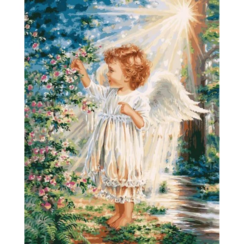 "Картина по номерам ""Прикосновение ангела"", 40x50 см., Babylon"